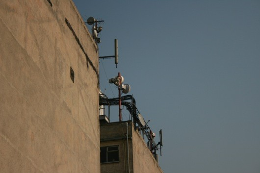 electromagnetic field array: cell phone repeaters, mexico city, 2009